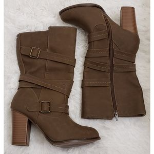NEW - APT 9 Taupe Faux Suede Boots NWOT